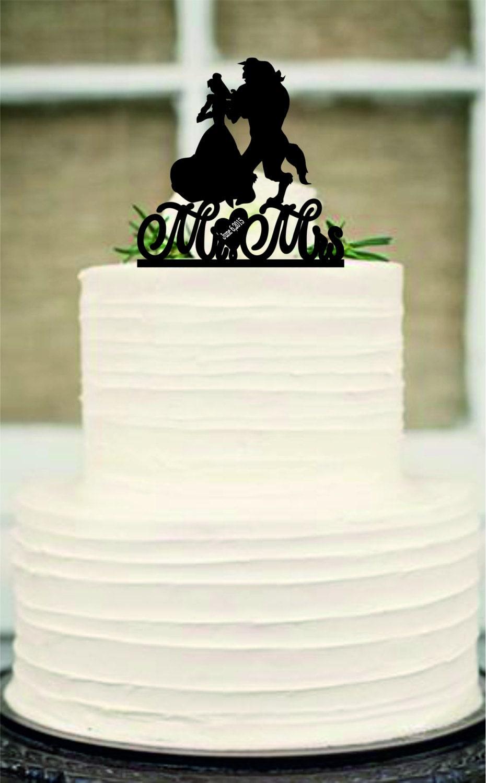 Silhouette Wedding Cake Topper Unique Wedding Cake Topper