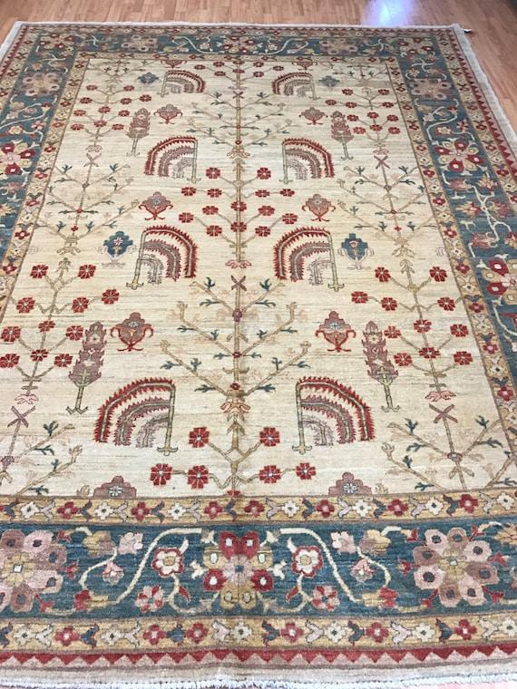 "8' x 10'5"" Pakistani Peshawar Oriental Rug - Hand Made - Veg Dye - 100% Wool"