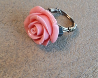 Pink Rosebud Ring (Size 6)
