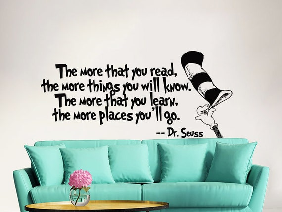 Vinyl Wall Art Quotes For Nursery : Dr seuss wall decal quote vinyl sticker decals quotes the more
