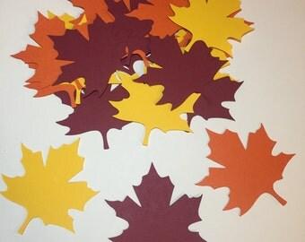 30 Leaf Die Cuts | Leaf Confetti | Fall Die Cuts | Fall Confetti | Thanksgiving Die Cuts | Thanksgiving Confetti | Thanksgiving Decorations