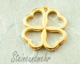 1x Pendant clover Gold Art. 2134