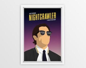 Printable Nightcrawler Film Poster // Jake Gyllenhaal // Digital File Download // A2