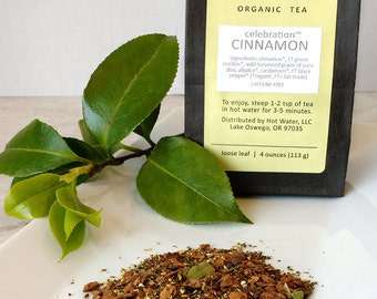 Organic CINNAMON Herbal Tea | Loose Leaf | Small (1.5 oz)