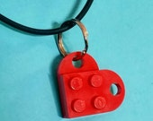 LEGO Necklace - Red Heart...