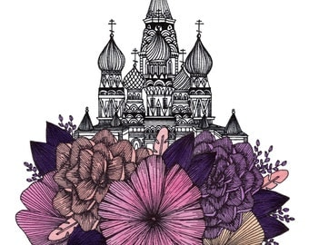 Moscow Floral Cityscape