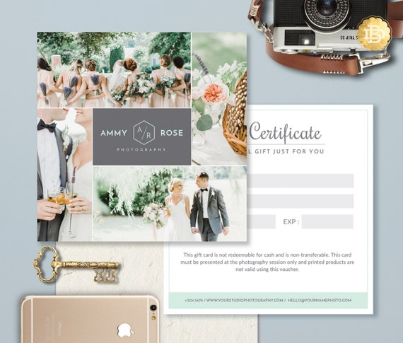 Photography gift card template photoshop gift certificate photography gift card template photoshop gift certificate template for photographer gift card design instant download gc004 yelopaper Image collections