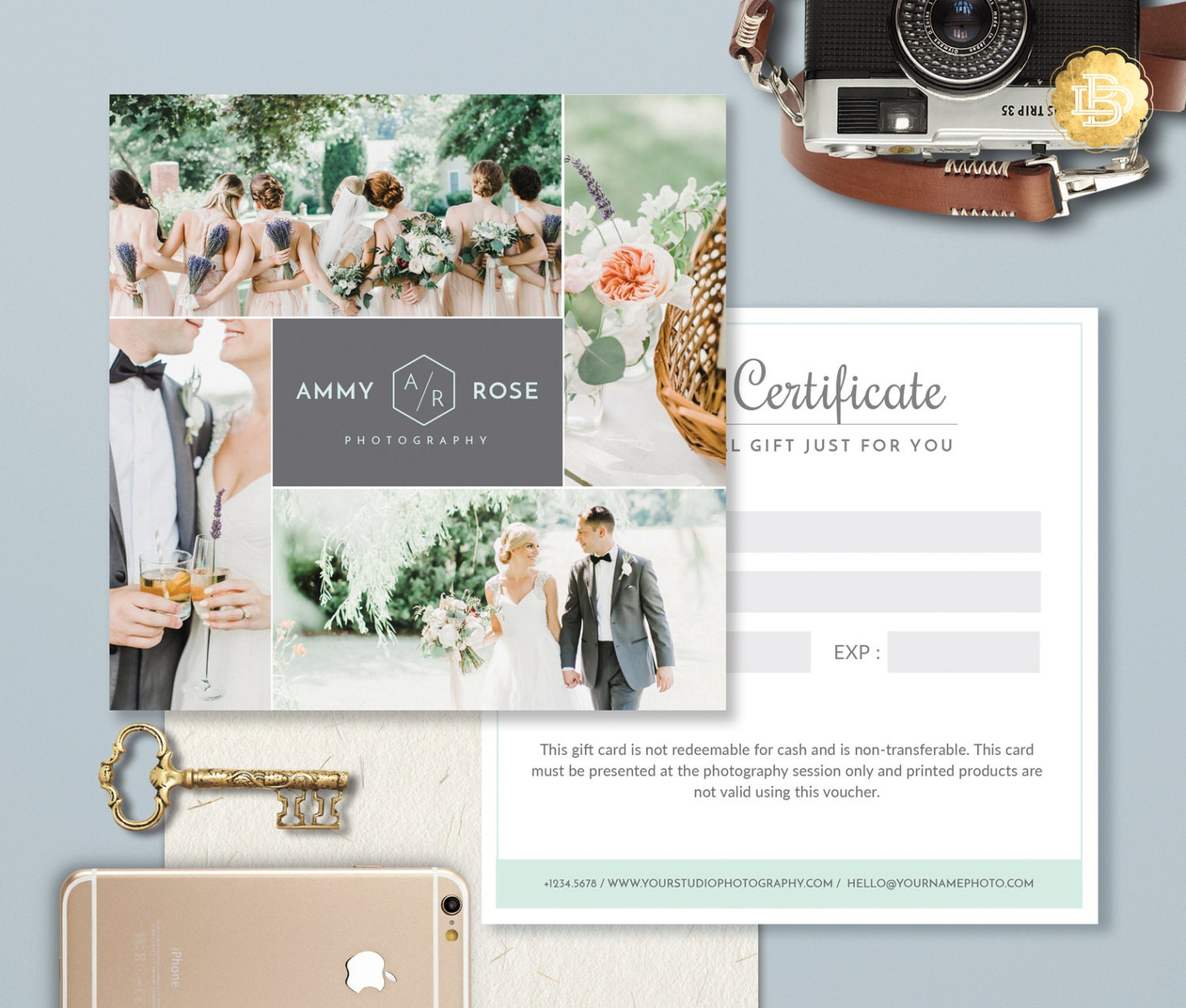 gift certificate template photoshop - photography gift card template photoshop gift certificate