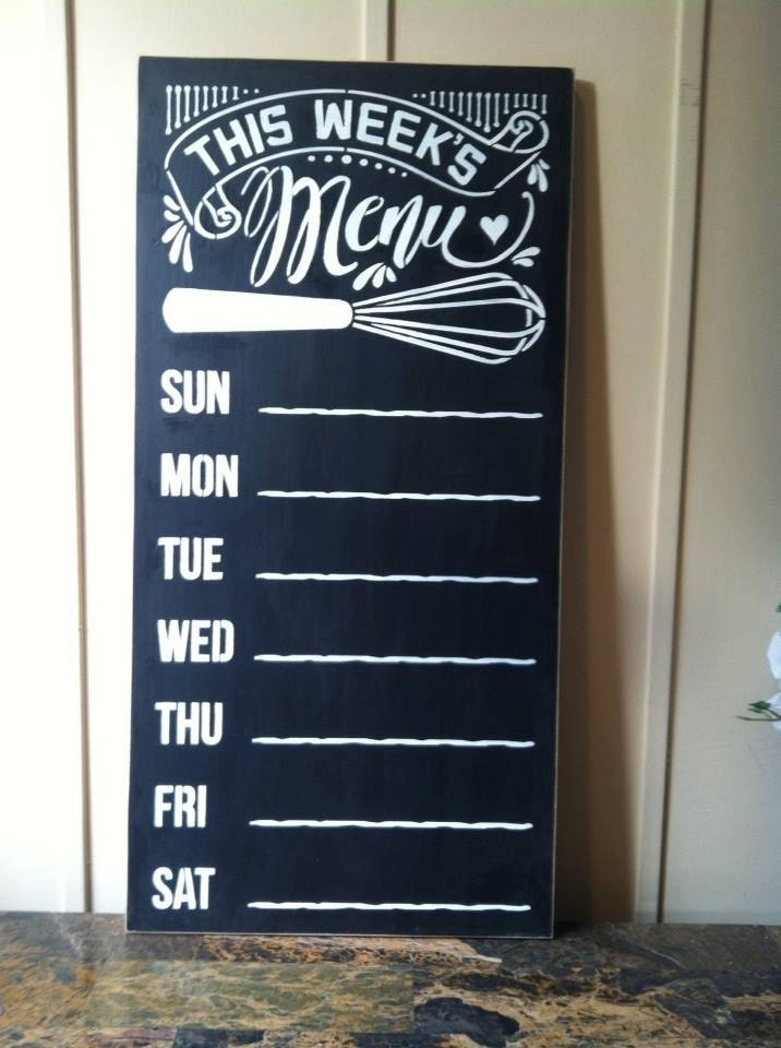 Wood sign 'This Week's Menu' 12 x 24