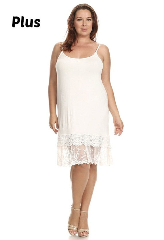 lace slip extender plus size for dress or skirt to make