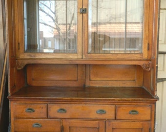 Items Similar To Sold Antique Oak Buffet Sideboard