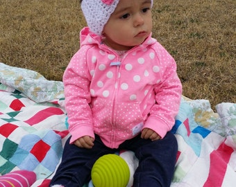 Bow ear warmer,  crochet bow headband, all sizes