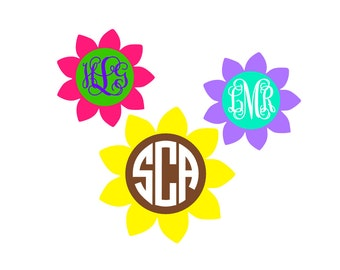 Personalized Flower Decal, Personalized Flower Sticker, Flower Car Decal, Flower Car Sticker, Sunflower Vinyl Decal, Sunflower Vinyl Sticker