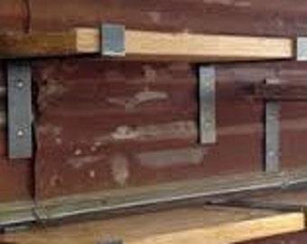 Industrial Steel Shelf Brackets, Set of 2 **Brackets Only**