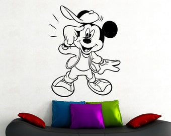 Mickey Mouse Wall Decal Disney Stickers Home Interior Design Kids Room Decor Nursery Wall Art Removable Window Door Mural 2ehyu