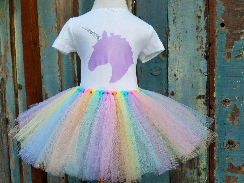rainbows and unicorns pastel rainbow handmade tulle tutu