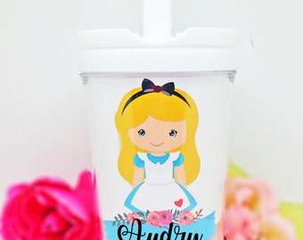 Alice in wonderland Sippy Cup, Alice Tondler sippy cup, Personalized Kids Cup, Alice in wonderland, , Personalized Gift, Party Favors