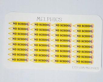 No School Sticker Set