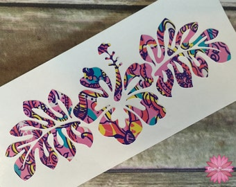 Hibiscus Hawaiian Flower Decal **DECAL ONLY**