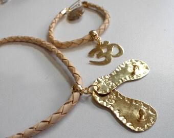 Set necklace and bracelet theme Padukas