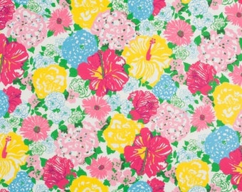 HERITAGE FLORAL Lilly Pulitzer for Lee Jofa Fabric 18x18 or 18x9 Lilly Textile fabric
