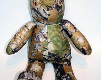 Hunting Camo Vintage Style Teddy Bear