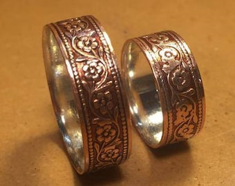 Upgrade - Fine Silver Inside Liner For Moonkist Copper Band - Made To Order and Soldered into Your Ring