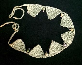 Pennant chain, crochet