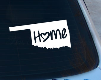 Oklahoma Decal - State Decal - Home Decal - OK Sticker - Love - Laptop - Macbook - Car Decal