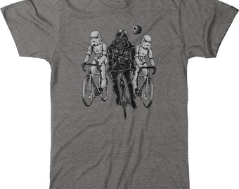 Darth Vader and Storm Troopers Star Wars Mens Tri-Blend T-shirt