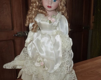 old collection dress the bride porcelain doll