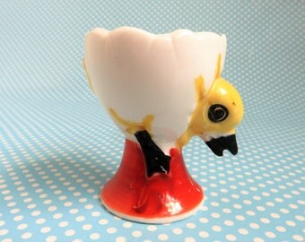 Vintage ceramic duckling egg cup 1950s