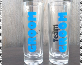 Groom/Team Groom Bucks Night Shot Glass