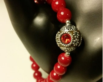 Royal Red Stone Bracelet