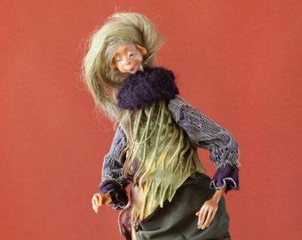 Doll Emma, handmade, OOAK, decoration, Künstleruppe, Cernit
