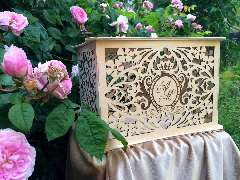 Wedding Gift Box Holder: Personalised Wooden Wedding Money Box / Savings Box / Wedding