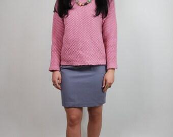 dusky pink jumper | vintage slouchy sweater 80s