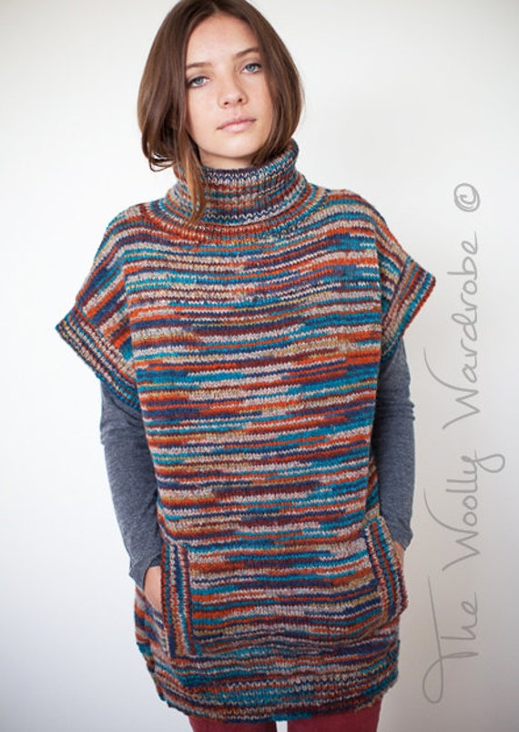 Sleeveless Cardigan Knitting Pattern : KNITTING PATTERN Billie Sleeveless Sweater