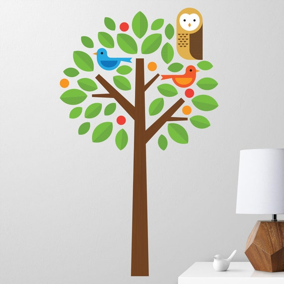 Owl Tree Wall Decal for Nursery by MaxwillStudio