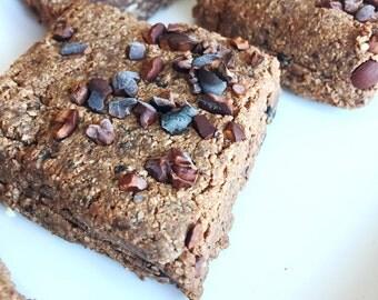 Fudge Brownies Organic Raw Vegan Dairy Free Low Carb Low Sugar Healthy Brownie