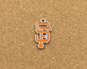San Francisco Giants Charm, Enamel Charm, Sports Charm, MLB Charm, Baseball Charm 13x24mm - HN346