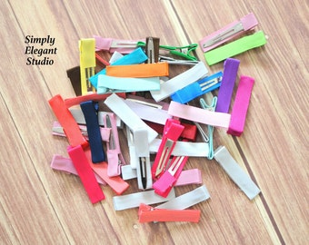 Assorted Partially Lined Alligator Hair Clips, Baby Girl Hair Clips, Wholesale Hair Clips