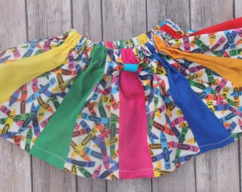 Colorful Crayola Crayon Skirt