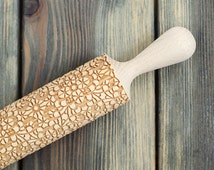 Delicate Lace Cookie Stamp, Engraved Pattern Rolling Pin, Ornament Embossing Rolling Pin, Guipure Cookie roller