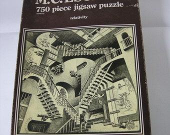 Vintage, M C Escher, Relativity Jigsaw Puzzle, 750 pieces