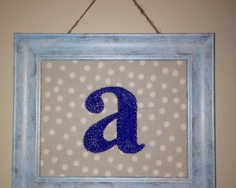 """Hand Embroidered Rustic """"A"""""""