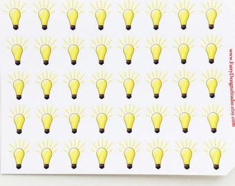 Light Bulb Planner Stickers