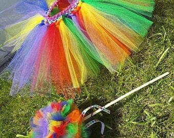 Rainbow tutu set