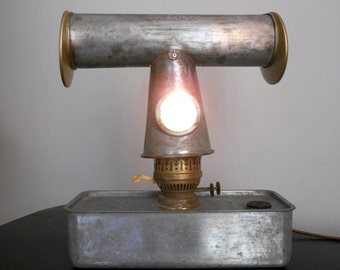 Retro Greenhouse Heater Table Lamp