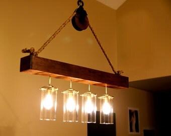 Hand made Dining Room / Kitchen Island chandelier